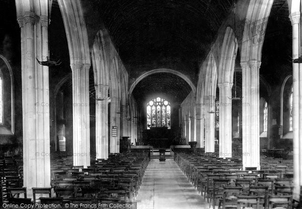 Bodmin, Church Interior 1901