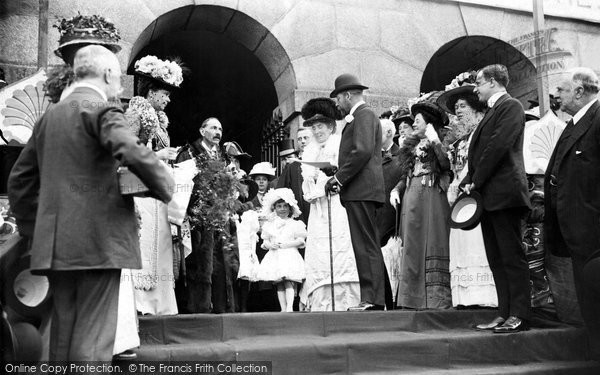 Bodmin, Prince And Princess Receiving Address At Mount Folley 1909