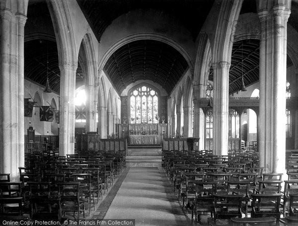 Bodmin, St Petroc's Church Interior 1938