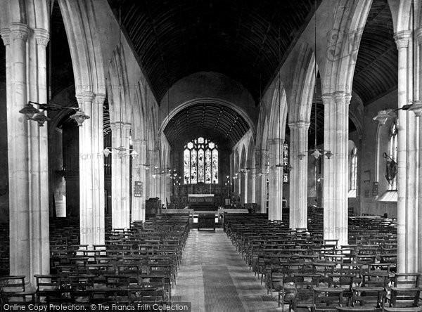 Bodmin, St Petrock's Church Interior 1920