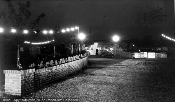 Bognor Regis, Boulevard Caravan Site At Night c.1960