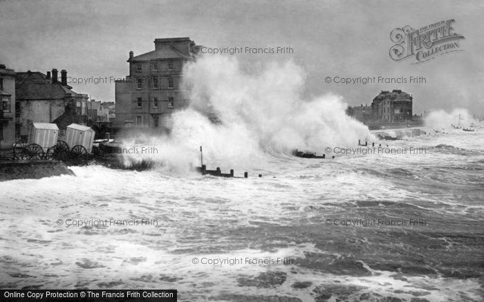 Bognor Regis, Rough Seas From The Pier 1890