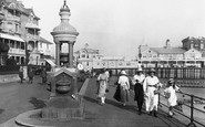 Bognor Regis, The Diamond Jubilee Drinking Fountain And Pier 1921