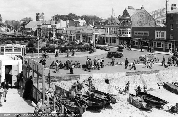 Bognor Regis, Waterloo Square From The Pier 1955