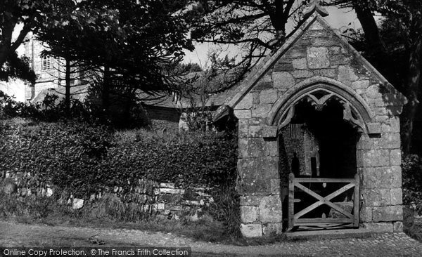 Bolingey, Old Stone Lych Gate St Piran's Church c.1955