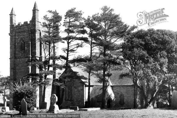Bolingey, Peranzabloe St Piran's Church c.1955