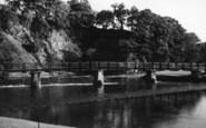 Bolton Abbey, The Footbridge And Cliffs c.1950