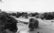 Bolton Abbey, The River From The Cliffs c.1960