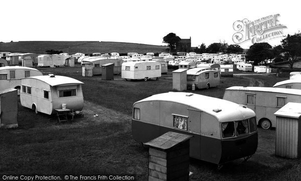 Bolton Le Sands, Morecambe Lodge Caravan Site c.1965