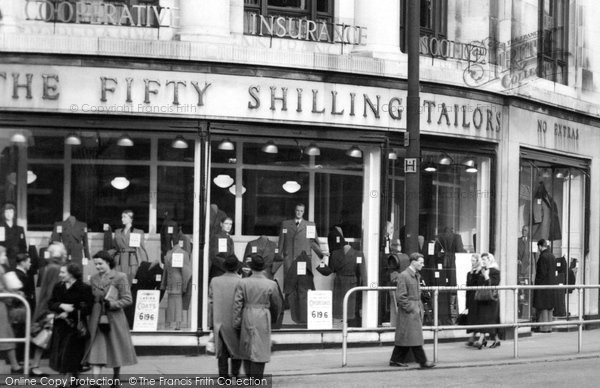 Bolton, The Fifty Shilling Tailors, Deansgate 1950
