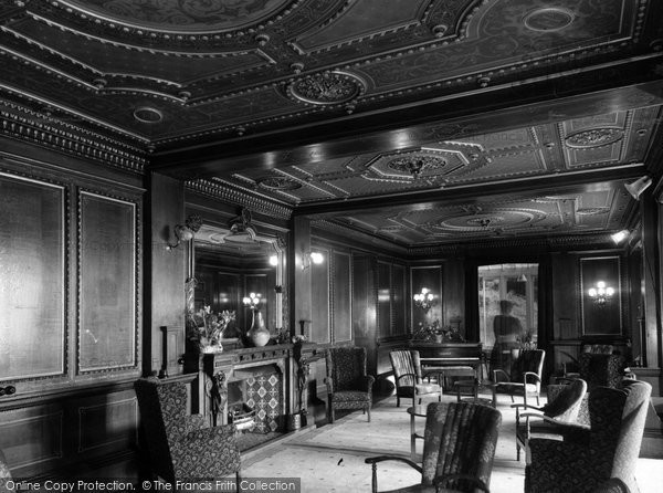 Bonchurch, Eastdene House The Lounge c.1955