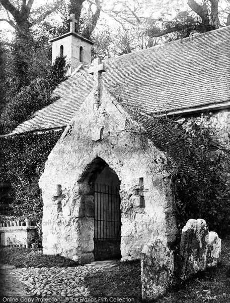 Bonchurch, St Boniface Old Church Porch c.1875