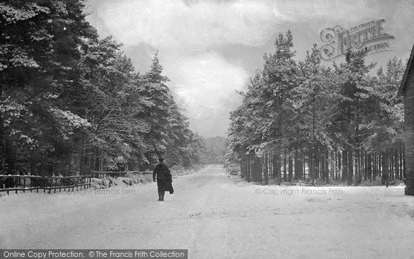 Bordon, Station Road In Winter c.1905