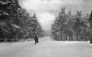 Bordon, Station Road In Winter c.1905