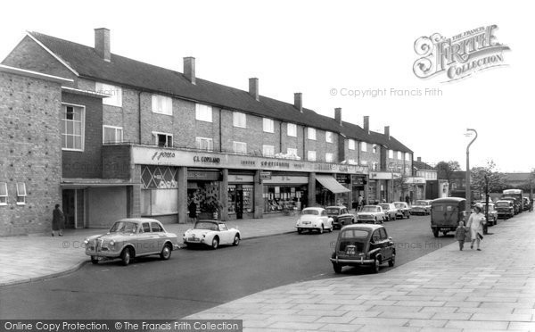 Photo of Borehamwood, Leeming Road Shopping Parade c.1965