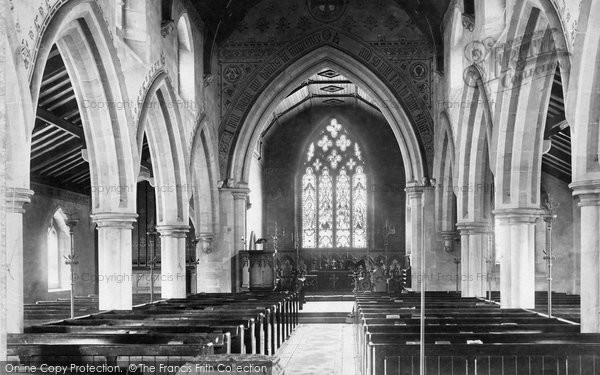 Boroughbridge, Church Interior 1895