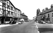 Boroughbridge, the Crown Hotel and Three Greyhounds Hotel c1955