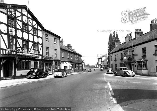Photo of Boroughbridge, the Crown Hotel and Three Greyhounds Hotel c1955