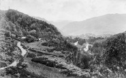 Borrowdale, Valley And The Bowder Stone c.1880