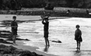 Borth, Children Paddling 1925