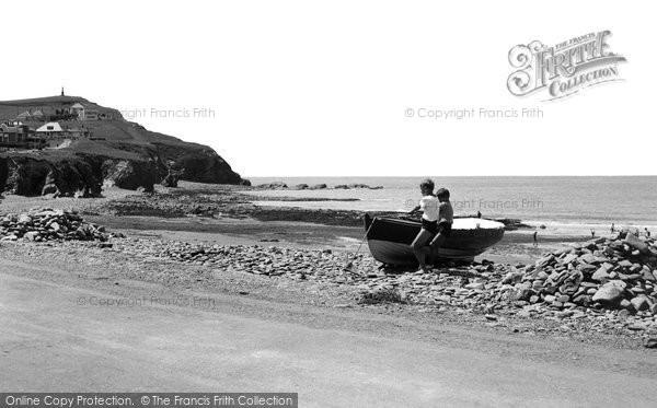 Borth, Craig Y Wylfa c.1955
