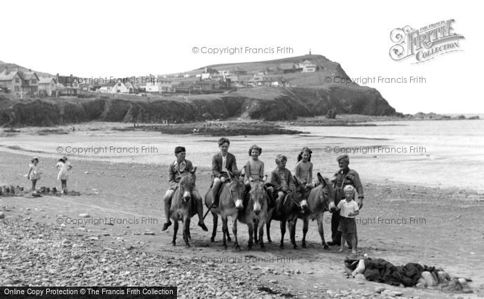 Borth, Donkeys On The Beach 1952