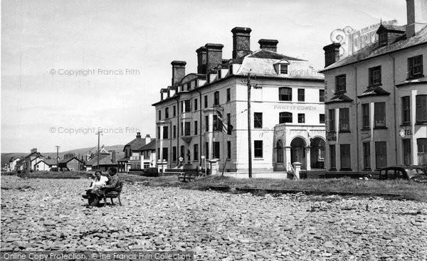 Borth, Grand Hotel And Pantyfedwen c.1955
