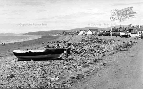 Borth, Looking Towards Towyn c.1955