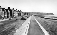 Borth, Seawall And Beach c.1960
