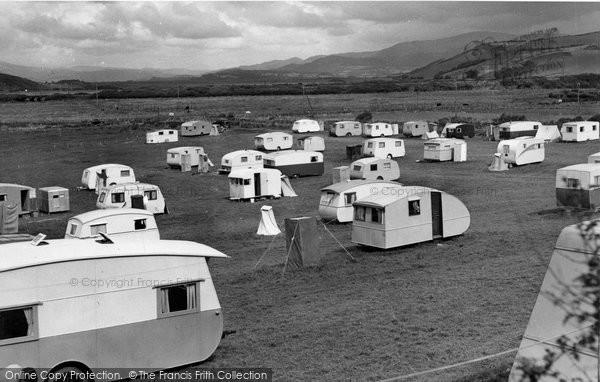 Borth, The Caravan Site c.1955
