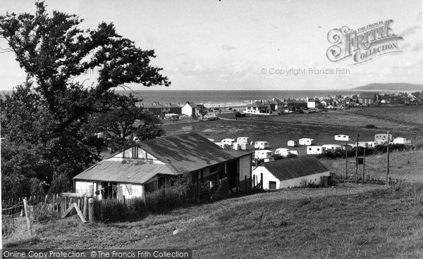 Borth, View From Brynowen Farm c.1955