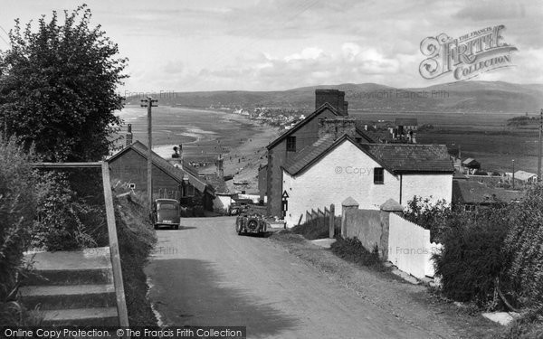 Borth, View From Clarach Road c.1955