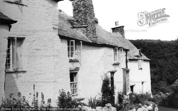 Boscastle, 14th Century Cottages c.1960