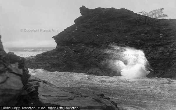 Boscastle, Blow Hole 1923