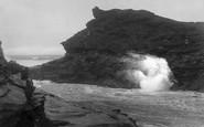 Boscastle, Blow Hole 1923