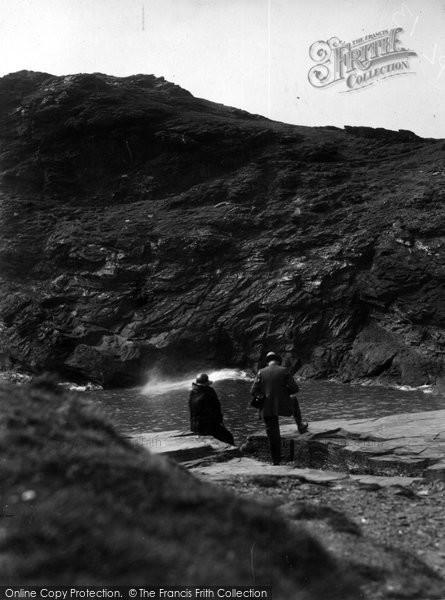 Boscastle, Blow Hole c.1955