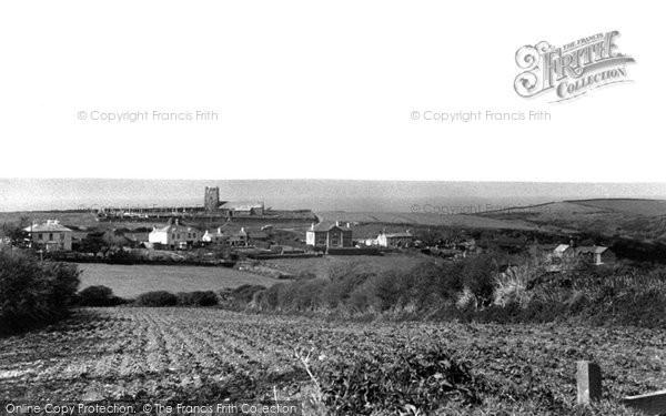 Boscastle, Forrabury Church And Upper Farm c.1955