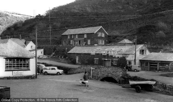 Boscastle, Lower Bridge c.1960