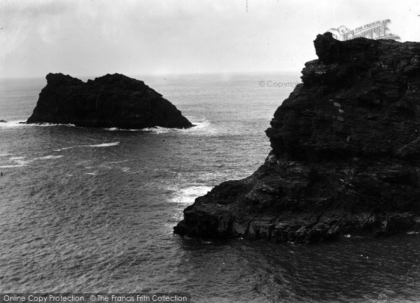 Boscastle, Profile Rock c.1955