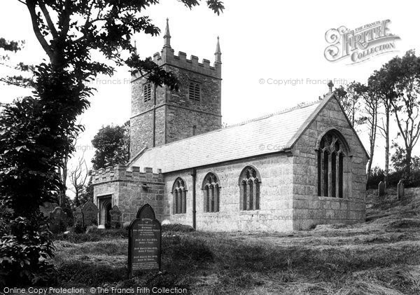 Boscastle, St Juliot's Church 1906