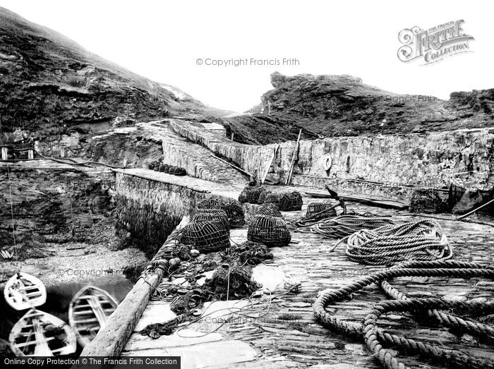 Boscastle, The Harbour And Profile Rock 1893