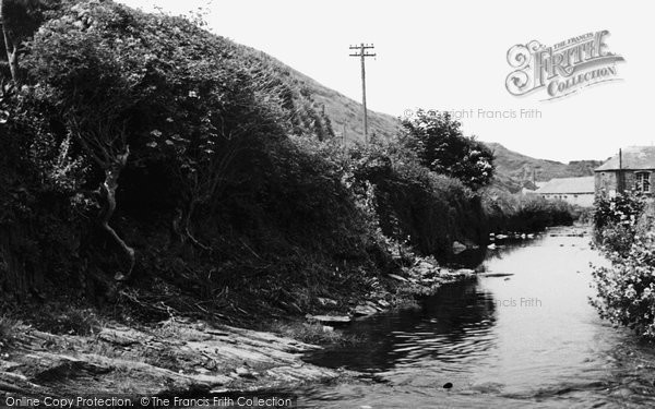 Boscastle, The Stream  c.1960