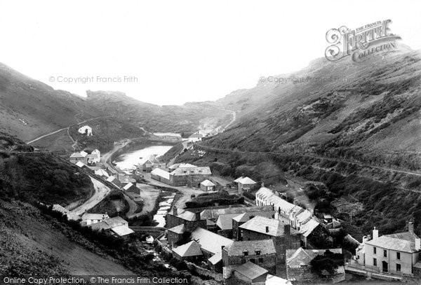Boscastle, The Village And Bridge 1894