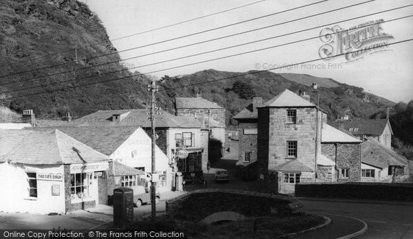 Boscastle, Upper Bridge c.1960
