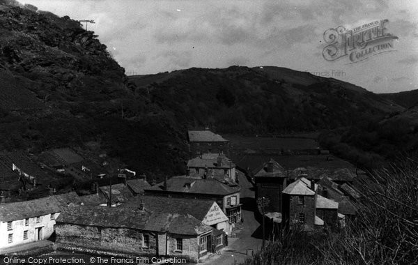 Boscastle, Valley View c.1955