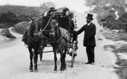 Boscombe, Horse Drawn Carriage, Boscombe Hill c.1865