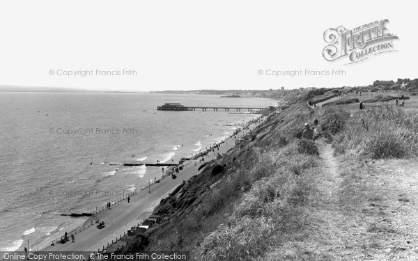 Boscombe, The Cliffs c.1960
