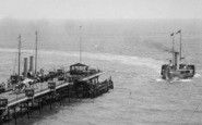 Boscombe, The Pier And A Steamship 1903