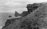 Bossiney, Cliff Path 1920