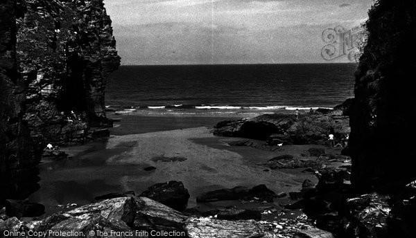 Bossiney, Elephant Rock And Beach c.1955